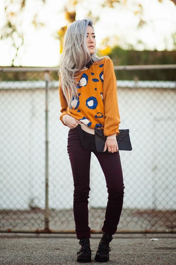 feral creature sweater blouse jeans bag shoes