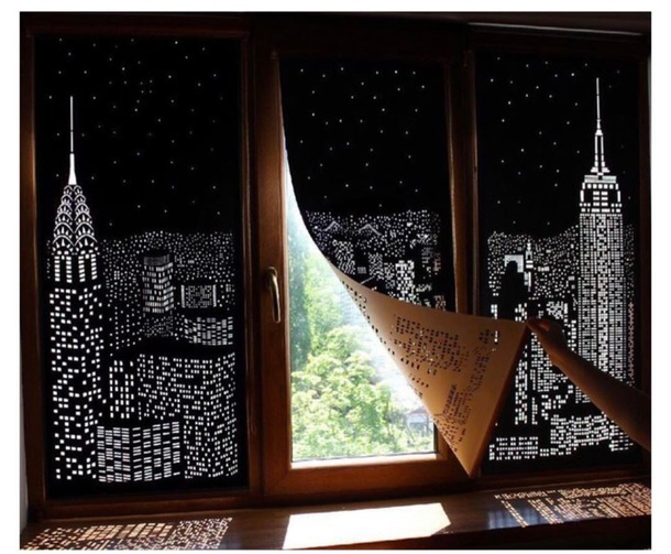 Home Accessory Drapes Skyline Light Black Window Cover Window Curtain Window  Hanging Curtains