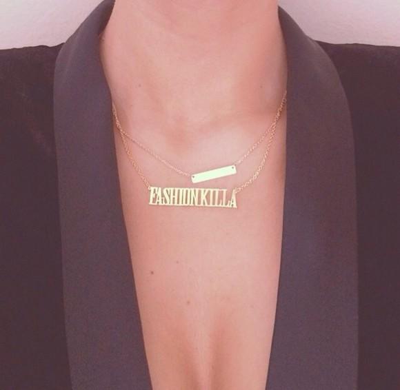 jewels necklace fashion killa chain fashion killa tumblr cute instagram shirt gold chain