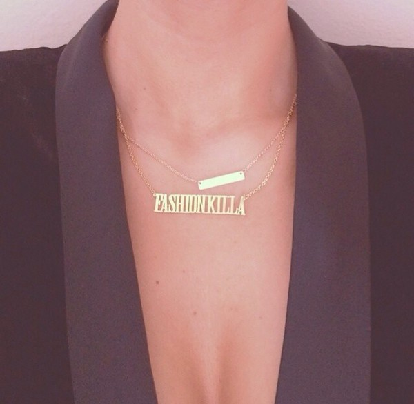 jewels fashion killa necklace chain fashion killa tumblr cute instagram shirt gold chain jewelry