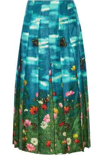 skirt pleated silk satin
