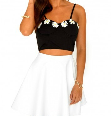 Black Daisy Bustier - Bad Girls Clique