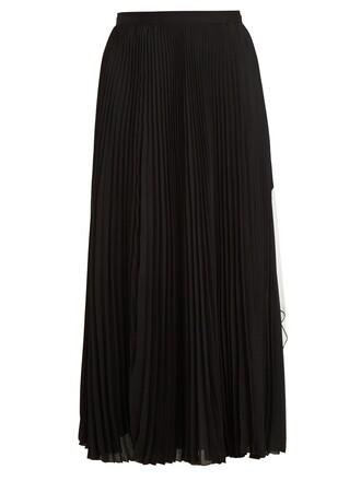 skirt midi skirt pleated cut-out midi white black