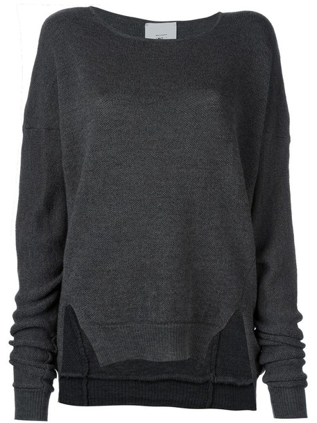 Lost & Found Rooms sweater women wool grey