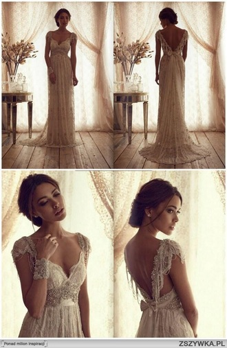 dress ivory french romance long bohemian anna campbell ivory dress lace dress embellishments long dress boho dress