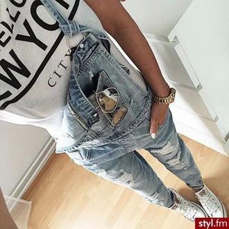 jumpsuit jeans blue denim