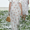 Doda orchid silk cotton dress | moda operandi