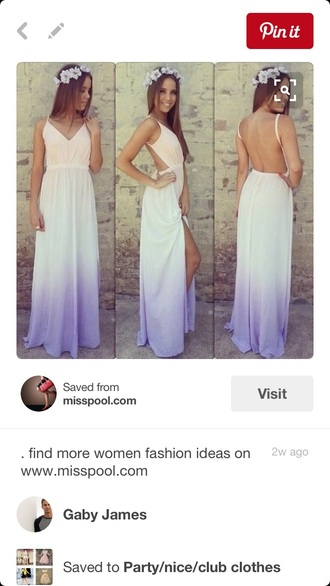 dress ombrè ombré dress backless dress prom dress maxi dress backless maxi dress