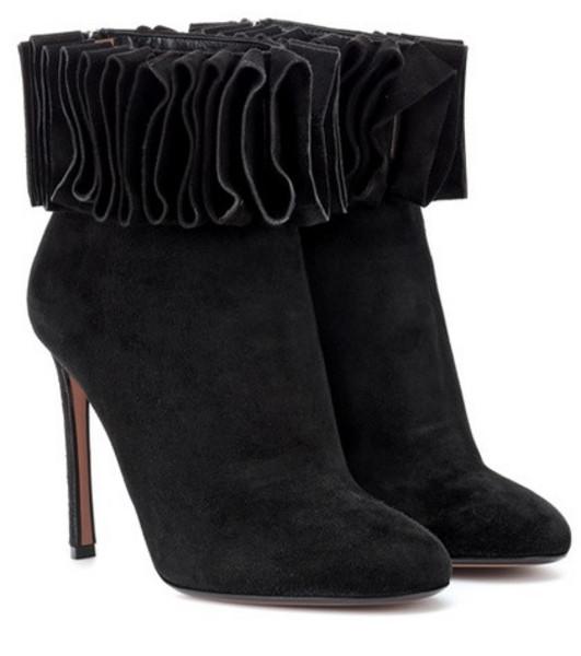 Samuele Failli Alexandra 105 suede ankle boots in black