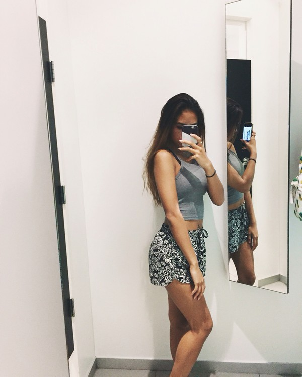 shorts loose shorts floral floral shorts with crop tops crop tops halter top