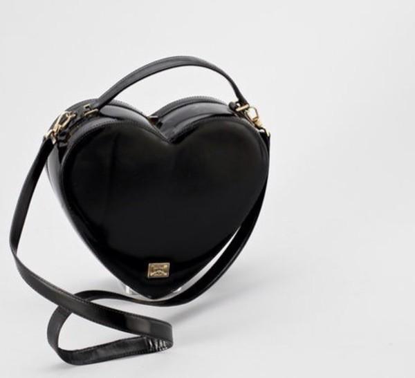 bag black hart heart hangbag grunge goth