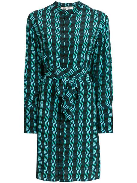 Dvf Diane Von Furstenberg dress print dress women print silk green