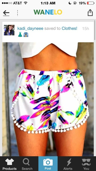 shorts white floral style fashion bright neon floral tank top