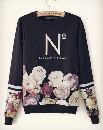 sweater floral roses style t-shirt cool