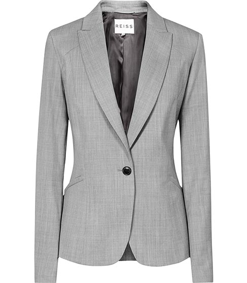 Tomley Arc Mid Grey Tailored Jacket - REISS