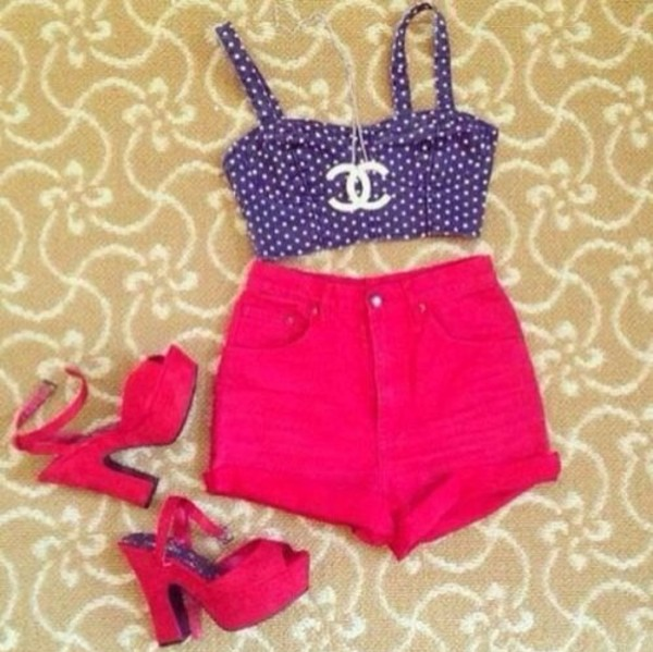 shoes shorts tank top jewels top shirt