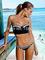 Aliexpress.com : buy summer white/black women swimwear bathing suit 2015 bahama ruffle bandeau push up swimsuit print bikini from reliable bikinis set suppliers on igoodbuy