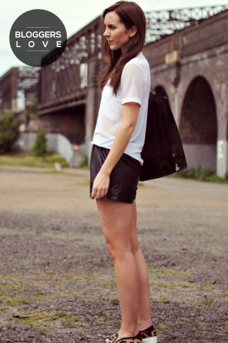 Girls on Film Black Faux Leather Shorts
