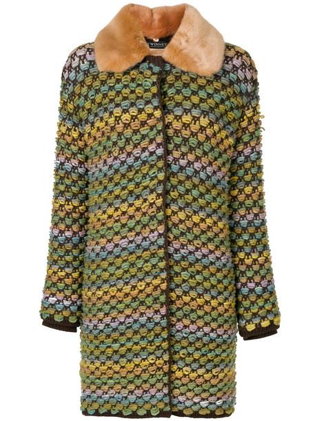 Twin-Set coat women wool