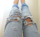jeans,denim,pretty,boyfriend jeans,ripped jeans,loose,light blue
