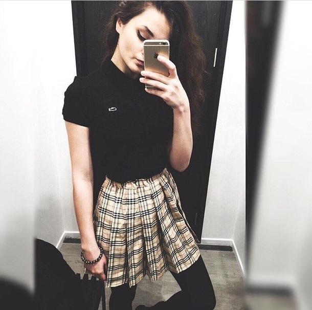skirt plaid skirt plaid sweet