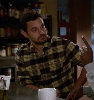 shirt nick miller new girl jake johnson plaid menswear jellow