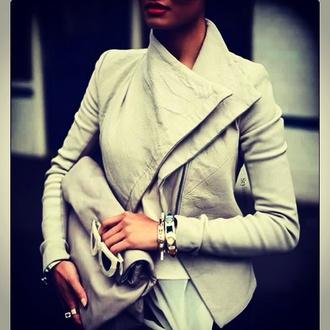 jacket light grey classic