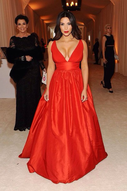 dress red dress kim kardashian pretty