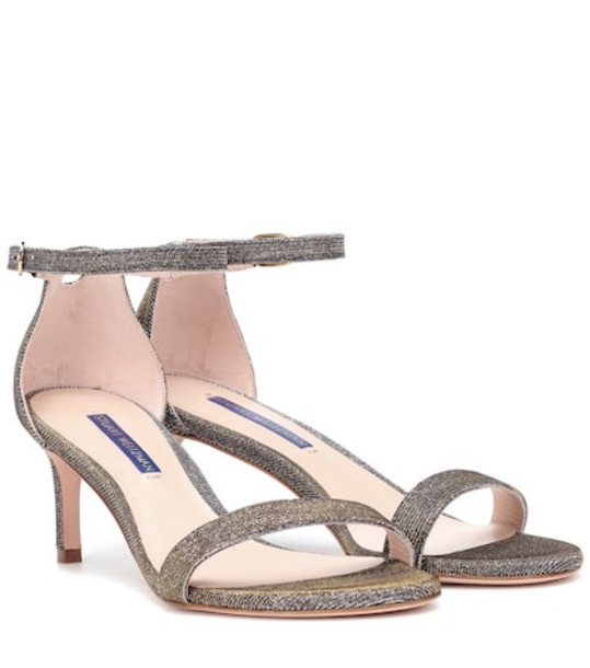 Stuart Weitzman Nunakedstraight 60 metallic sandals in gold