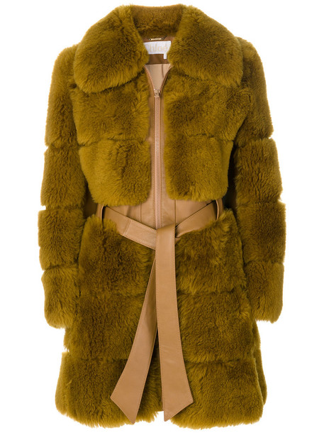 Chloe coat fur coat hair fur women brown