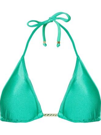 bikini bikini top triangle bikini triangle green swimwear