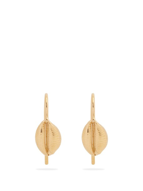 Isabel Marant shell earrings gold jewels