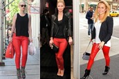 pants,leather pants,nicky hilton,hayden panettiere,red pants,leather,trendy