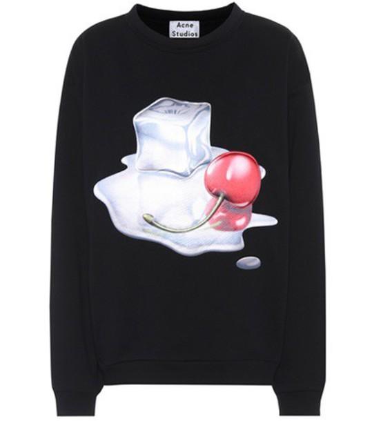 Acne Studios sweatshirt cotton black sweater