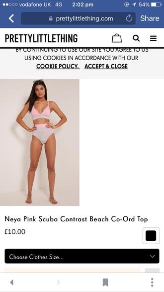 swimwear grey and silver high waisted bikinibi