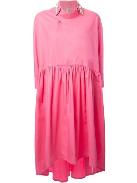 Antonio Marras dress shirt dress oversized shirt dress oversized purple pink