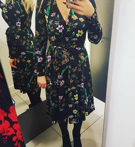 dress navy floral