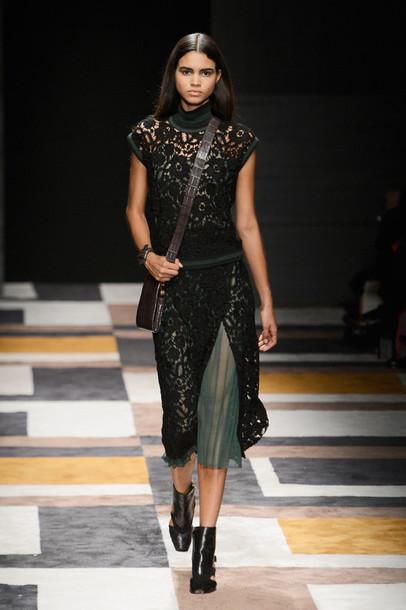 dress purse shoes fashion fashion week 2015 midi dress lace dress