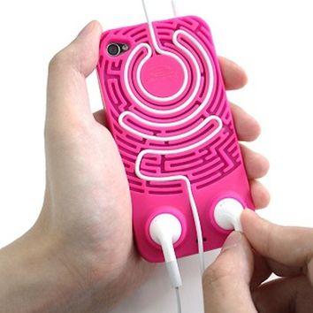 Wisdomaze Protective Silicone Case iPhone 4 - 4s / Headphone Tidy Maze / Fun on Wanelo