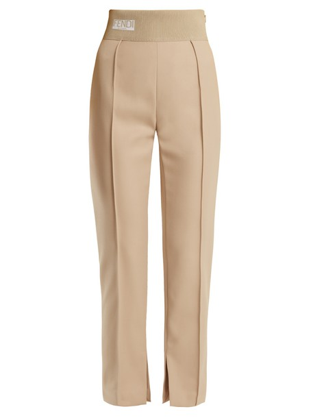 Fendi high jacquard pants