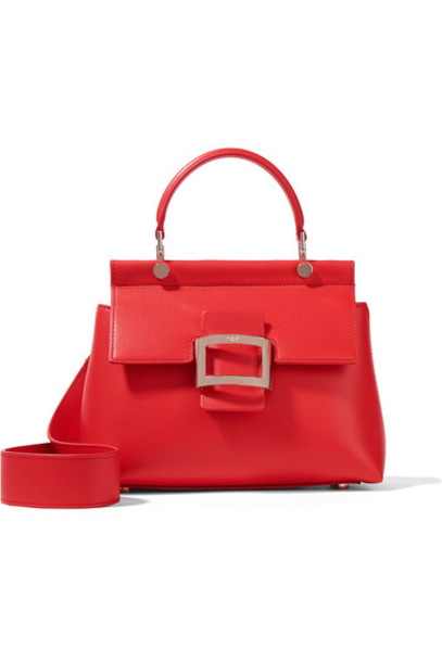 Roger Vivier mini leather red bag
