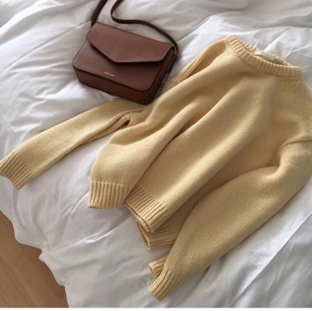 sweater bag yellow sweater fall outfits fall outfits fall sweater