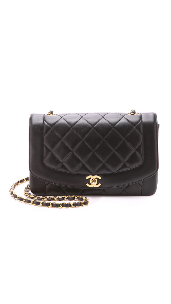What Goes Around Comes Around Chanel Classic Flap Bag (Previously Owned) in black