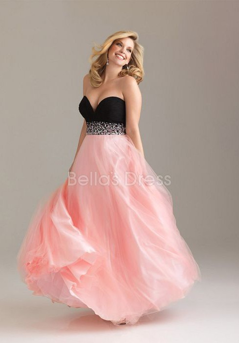 Junoesque A line Floor Length Sweetheart Tulle Evening Party Gown - 1300102048B - US$127.99 - BellasDress