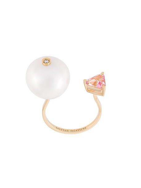 Delfina Delettrez diamond ring women ring gold yellow grey metallic jewels