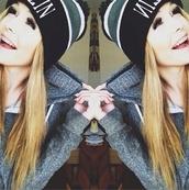 hat,acacia brinley,beanie,black,jacket,sweater