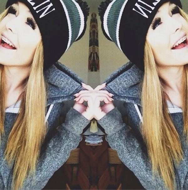 hat acacia brinley acacia brinley beanie black jacket sweater