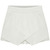 ROMWE | Asymmetric Split Oversize White Shorts, The Latest Street Fashion
