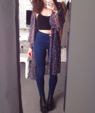 cardigan kimono boho bohemian bohemian fashion shoes jeans