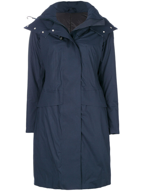 parka women cotton blue coat